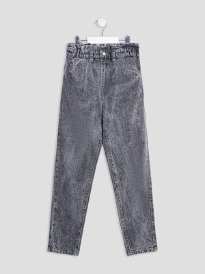 Jeans mom Liberto denim gris fille