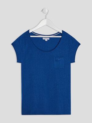 T shirt manches courtes Creeks bleu marine fille