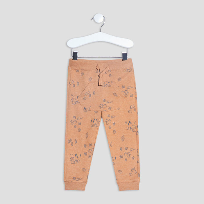 Pantalon jogging droit bébé garçon marron