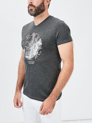 T shirt Trappeur gris fonce homme