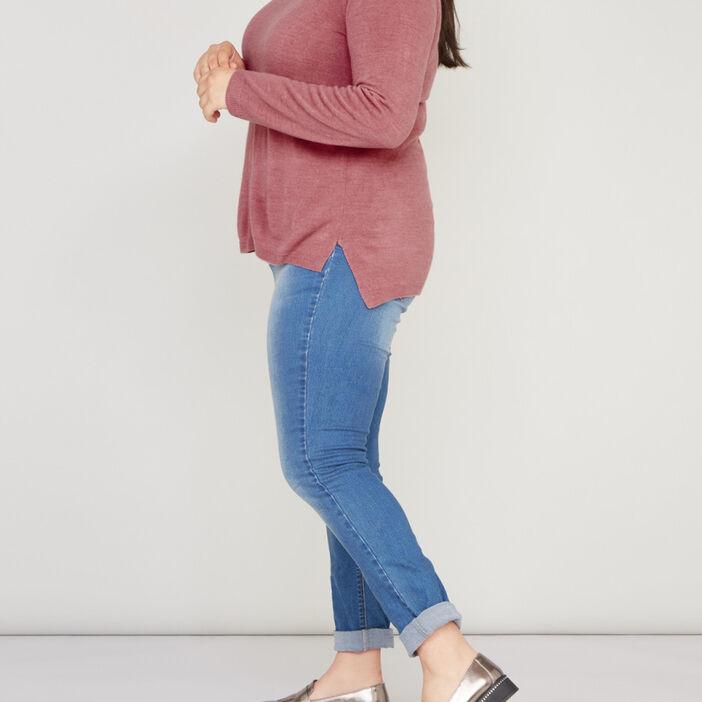 Jeans slim femme grande taille denim stone