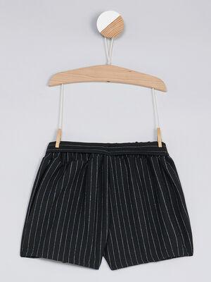Bermuda short noir fille