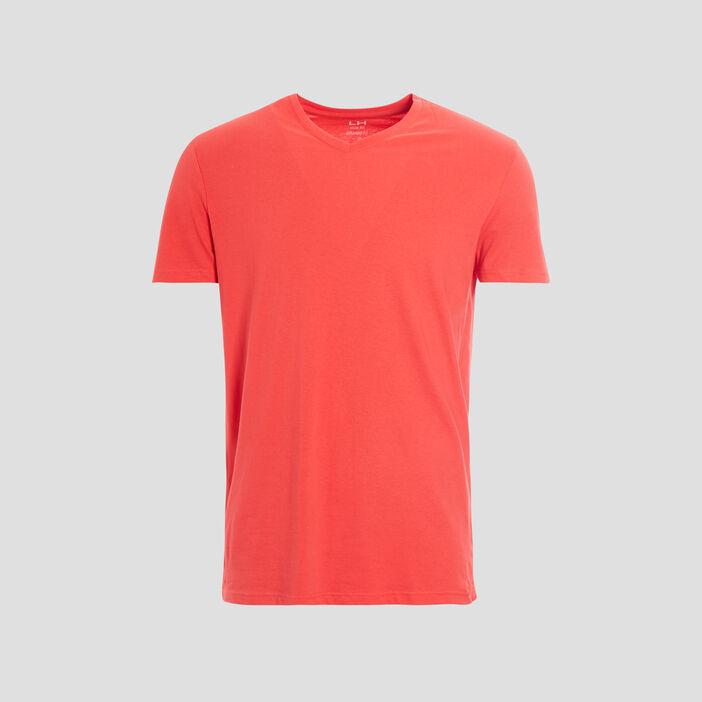 T-shirt manches courtes homme rouge corail