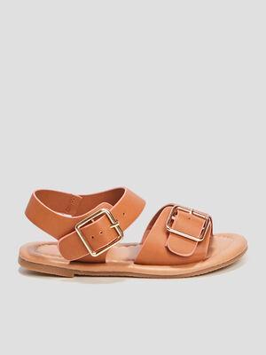 Sandales avec boucles marron fille