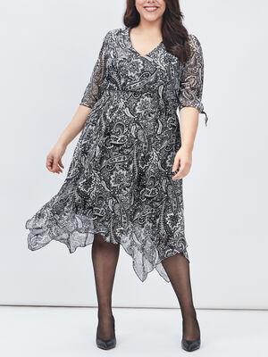 Robe evasee grande taille noir femmegt