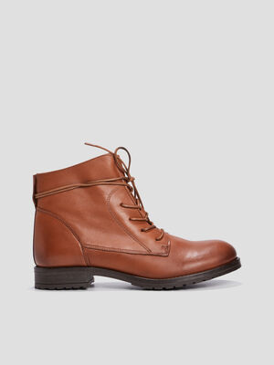 Bottines a lacets marron femme