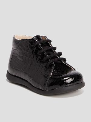 Chaussures vernies en cuir noir bebef
