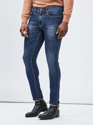Jeans slim effet use denim dirty homme