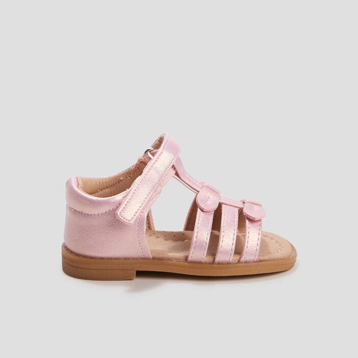 Sandales plates bébé fille rose