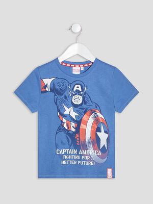 T shirt Captain America bleu garcon