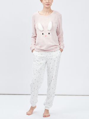 Ensemble de pyjama rose femme