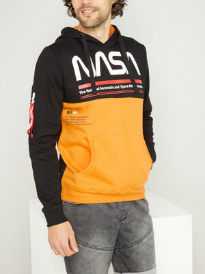 Sweat Nasa avec capuche multicolore homme