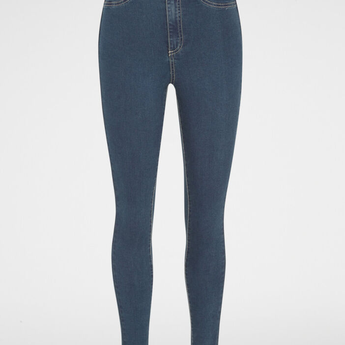 Jean skinny taille haute femme denim dirty