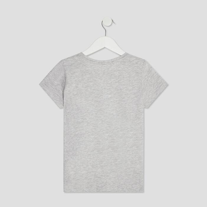 T-shirt manches courtes fille gris