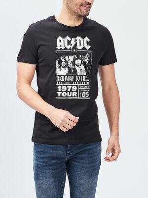 T shirt manches courtes ACDC noir homme