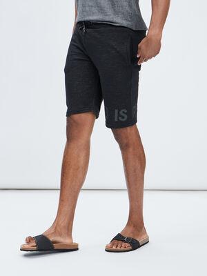 Bermuda droite Liberto noir homme