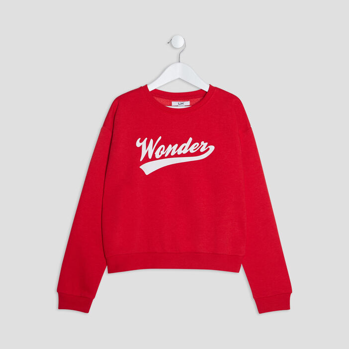 Sweat manches longues fille rouge