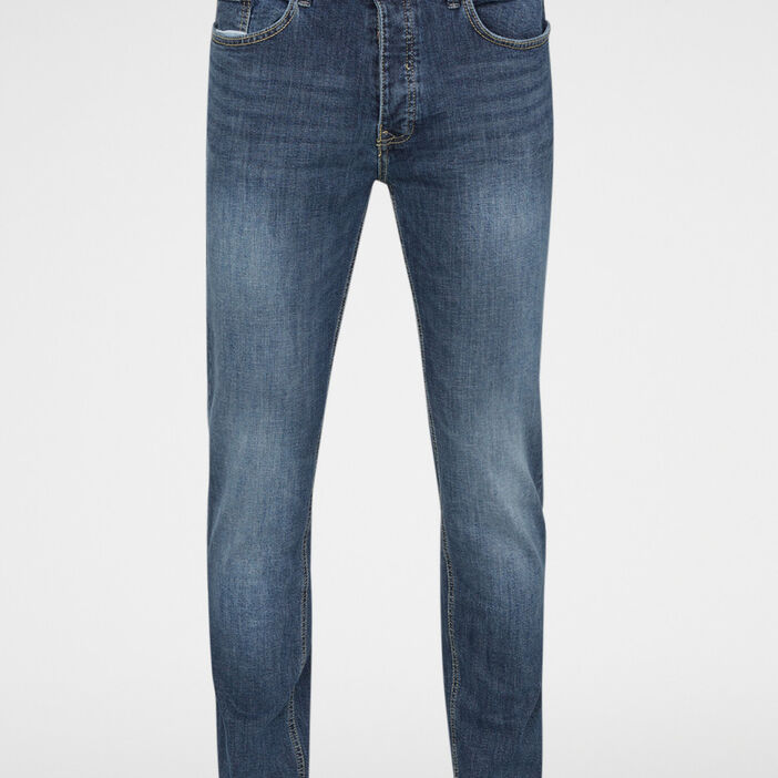 Jean regular en coton extensible homme denim double stone