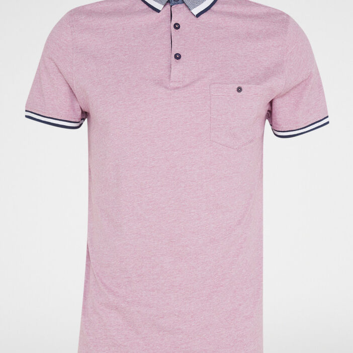 Polo manches courtes uni homme rose