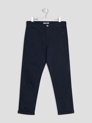 Pantalon chino bleu marine garcon