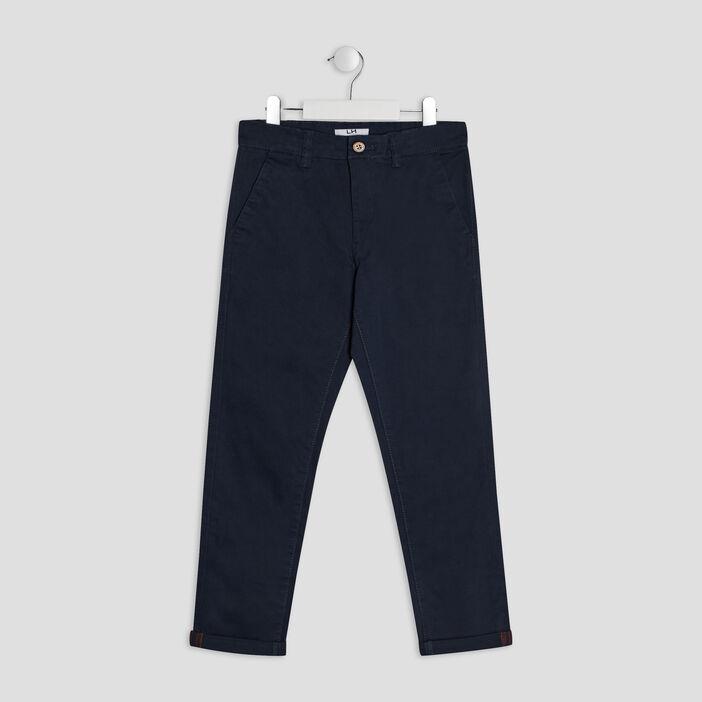 Pantalon chino garçon bleu marine