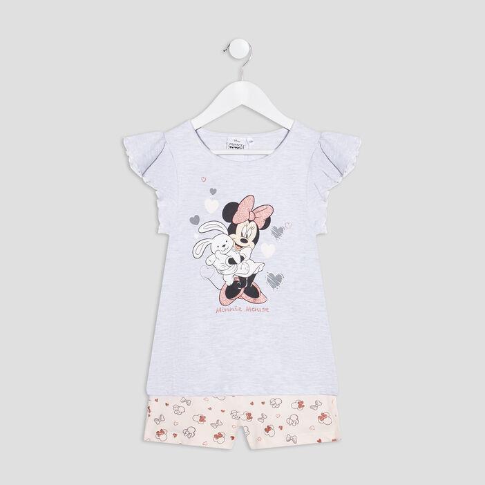 Ensemble pyjama Minnie fille gris clair