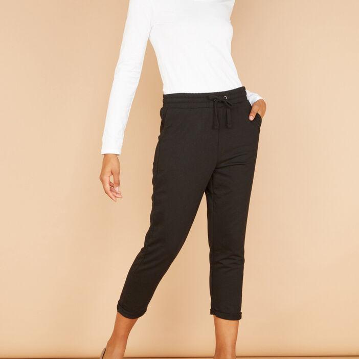 Legging uni 7/8 femme noir