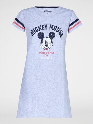 Chemise de nuit Mickey gris femme