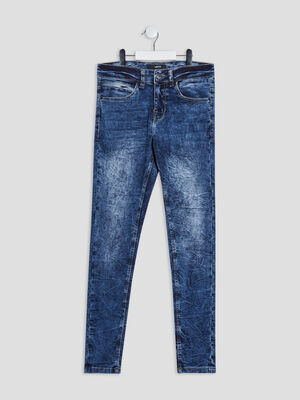 Jeans skinny stretch Liberto denim double stone garcon