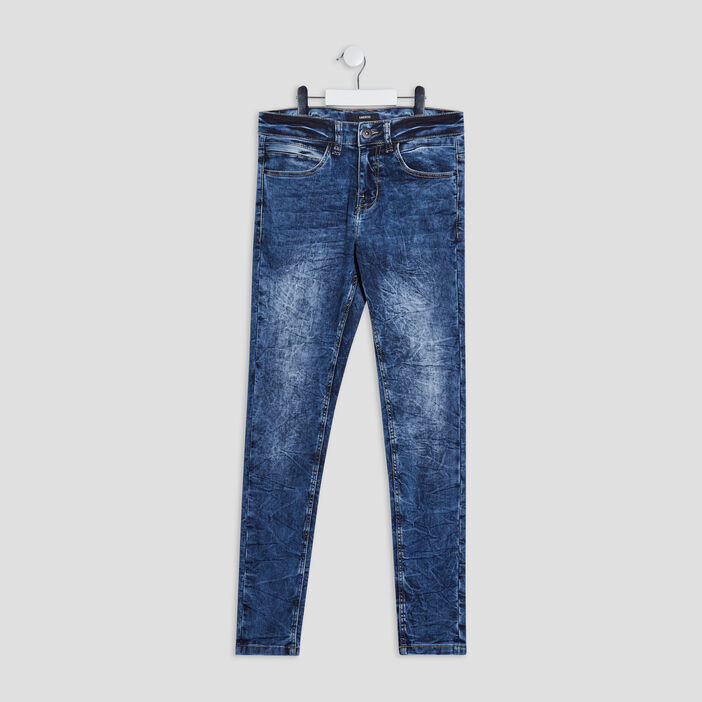 Jeans skinny stretch Liberto garçon denim double stone