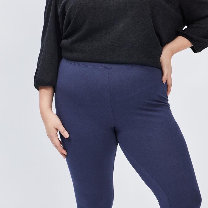 Leggings femme grande taille bleu marine