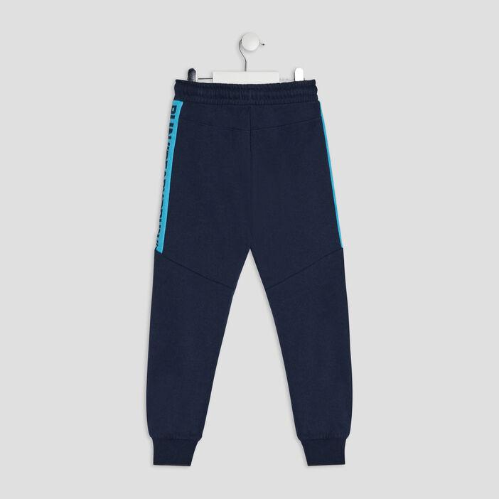 Jogging à taille élastiquée garçon bleu marine
