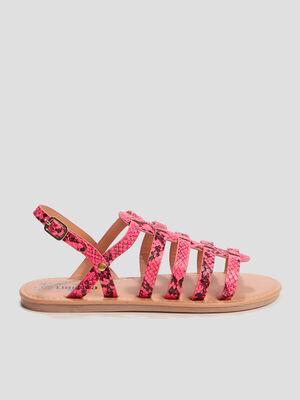 Sandales texturees Liberto rose fille
