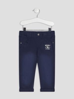 Pantalon droit Creeks bleu marine bebeg