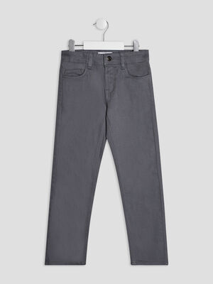 Pantalon regular gris garcon