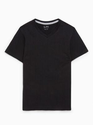 T shirt manches courtes noir garcon