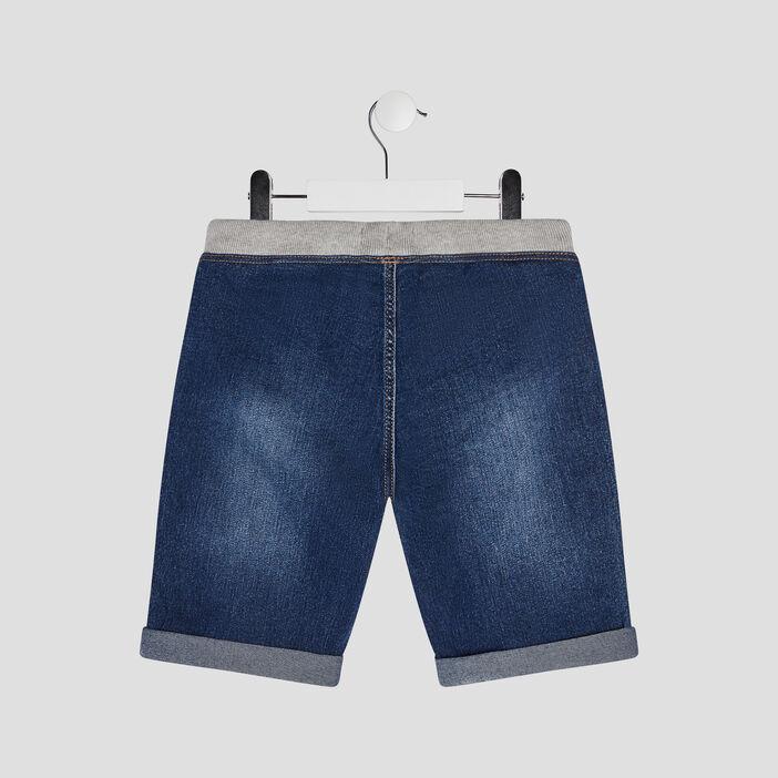 Bermuda droit en jean garçon denim stone