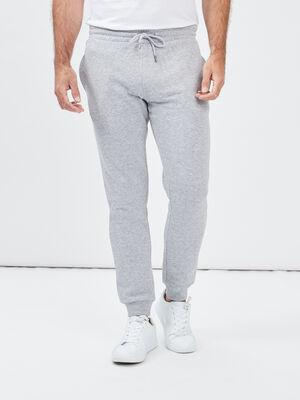 Jogging droit gris homme