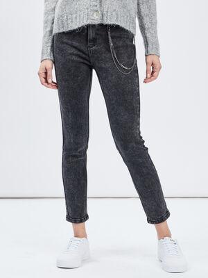 Jeans slim 78eme avec chaines noir femme