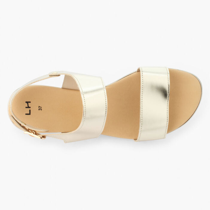 Sandales double bride unies femme sable
