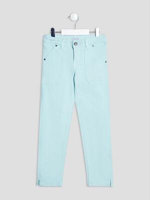Pantalon slim 78eme vert clair fille