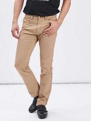 Pantalon straight beige homme