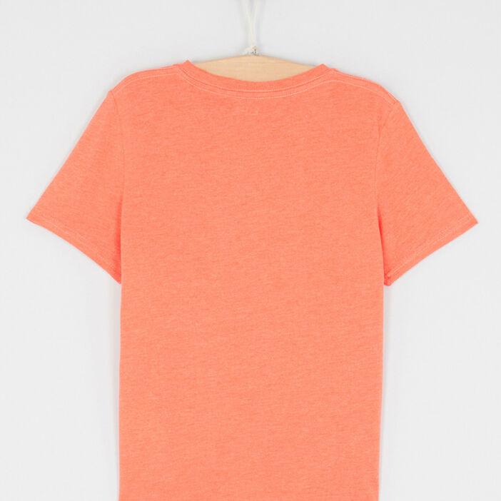 T-shirt chiné à manches courtes garçon orange