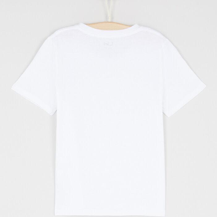 T-shirt en coton col V garçon blanc