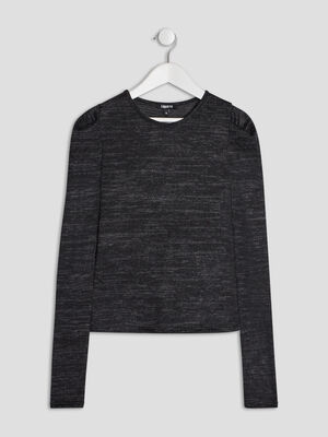 Pull manches longues Liberto gris fonce fille