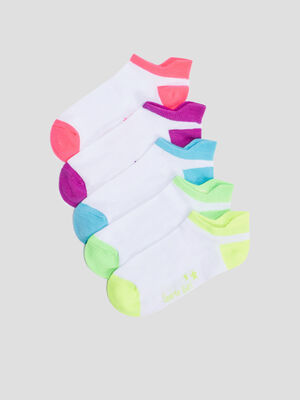 Lot 5 paires de chaussettes blanc fille