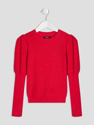 Pull manches bishop Liberto rouge fille