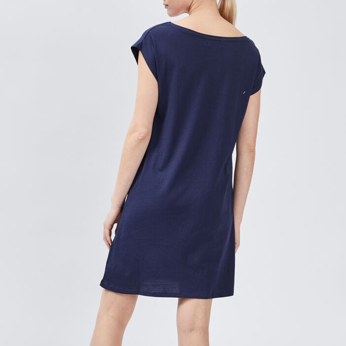 Chemise de nuit femme bleu marine