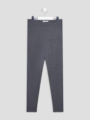 Leggings gris fonce fille