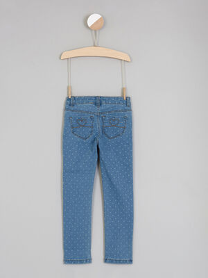 Jean imprime pois coupe skinny denim double stone fille